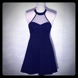 Lulu's Black Halter Dress